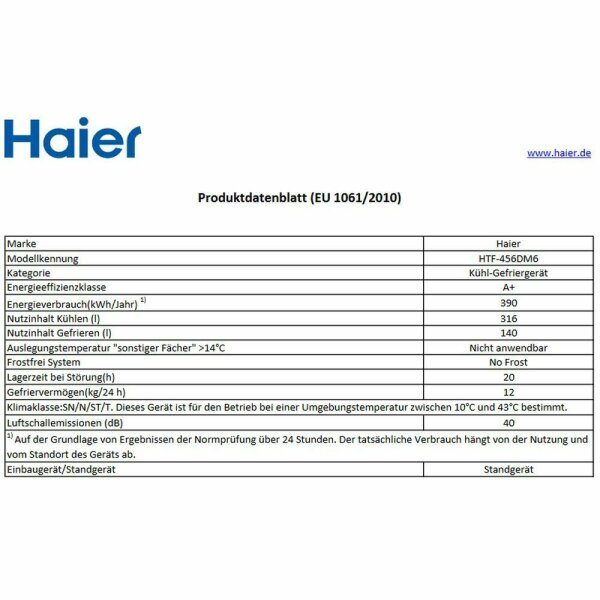 Haier - HTF-456DM6 - French-Door - A+ - Silber - NoFrost - A-WARE