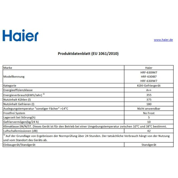 Haier - HRF-630IM7 - Side-by-Side - Silber - A++ - NoFrost